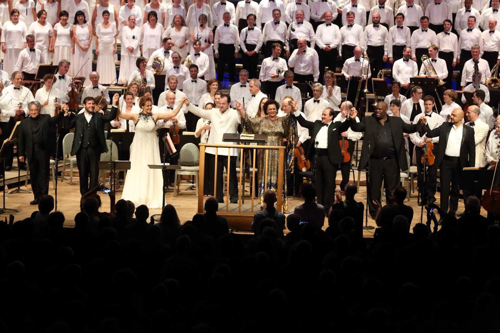 Aida con Kristine Opolais e Violeta Urmana © Boston Symphony Orchestra
